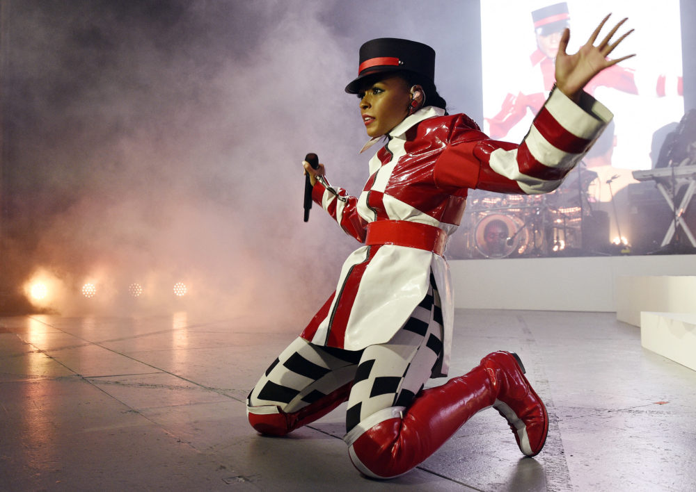 Singer-songwriter Janelle Monae performs at the Greek Theatre, Thursday, June 28, 2018, in Los Angeles. (Photo by Chris Pizzello/Invision/AP)