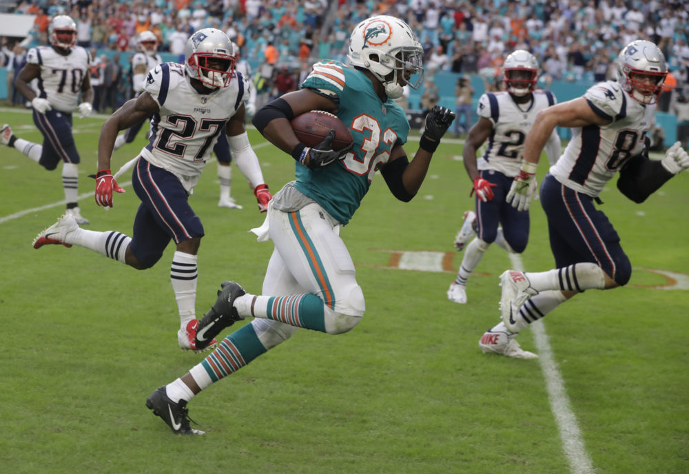 Miami Dolphins and a blustery day await the Patriots today