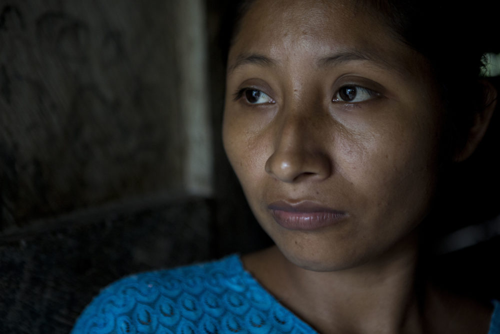 Claudia Maquin, 27, poses for a portrait at her house in Raxruha, Guatemala, on Saturday, Dec. 15, 2018. Jakelin was her daughter. (Oliver de Ros/AP)