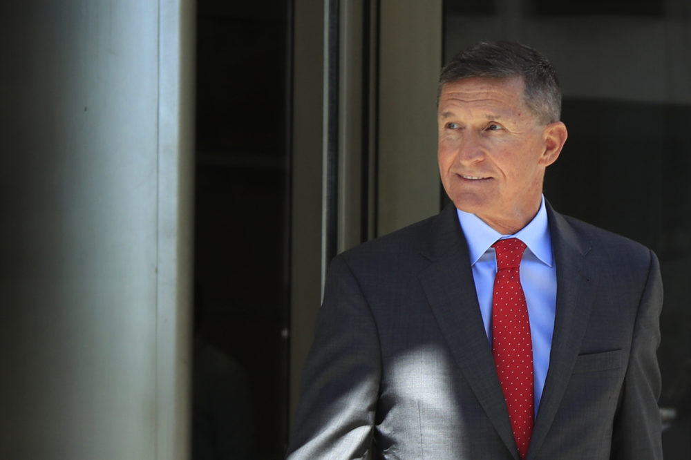 Former Trump national security adviser Michael Flynn leaves the federal courthouse in Washington, following a status hearing, July 10, 2018. (Manuel Balce Ceneta, File/AP)
