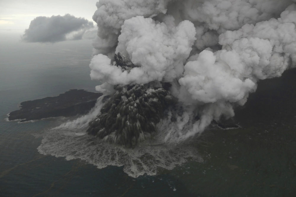 Indonesia widens exclusion zone around island volcano after tsunami