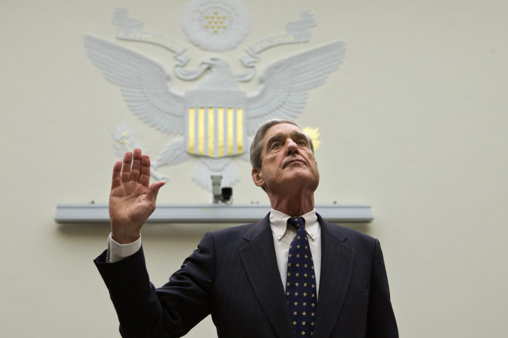 FBI Director Robert Mueller is sworn in on on Capitol Hill in Washington, Thursday, June 13, 2013, prior to testifying before the House Judiciary Committee as it holds an oversight hearing on the FBI. (J. Scott Applewhite/AP)