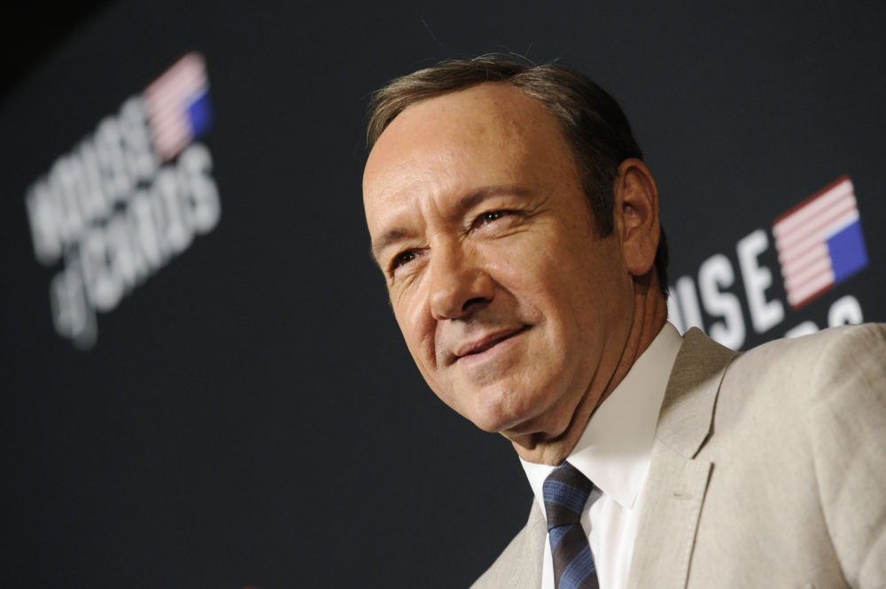 Kevin Spacey on Thursday, Feb. 13, 2014 in Los Angeles. (Chris Pizzello/Invision/AP)