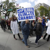 Protesters during a march for science Saturday, April 22, 2017, in Denver. The Mile High City is joining communities around the globe where people are marching to defend scientific work from attacks including U.S. government budget cuts. (David Zalubowski/AP)