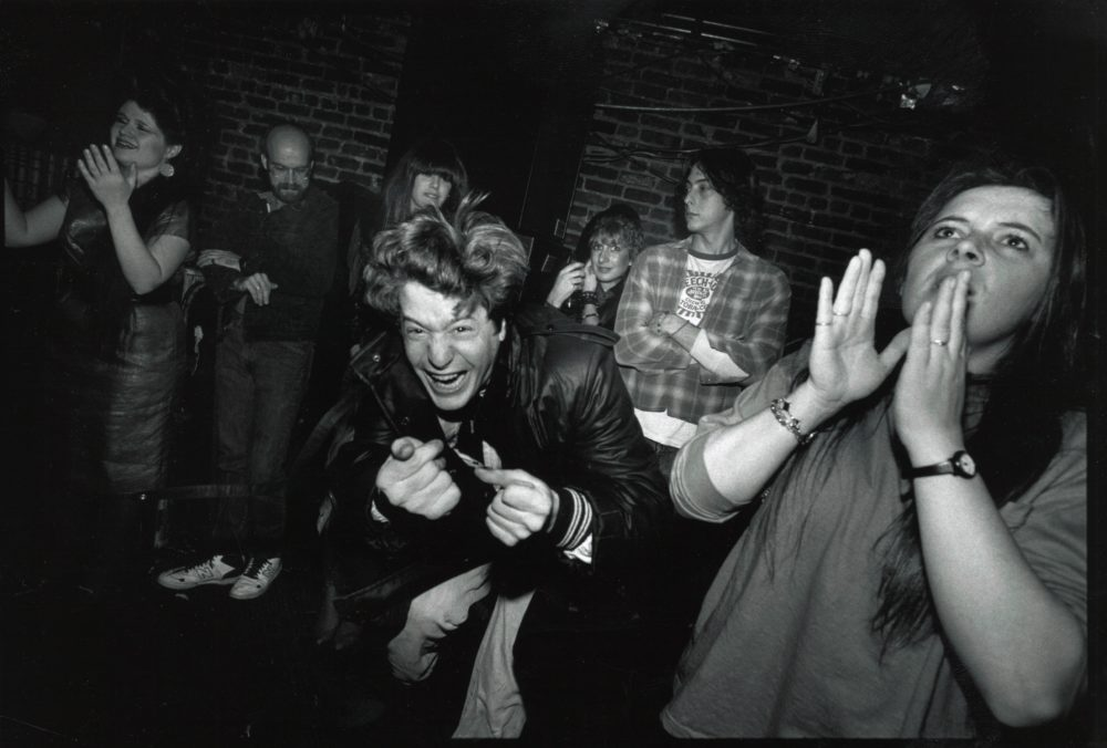 Billy Ruane in his element at Bunratty's in Allston, MA, 1988. (Mark Morelli)