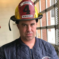 Thirty-six-year-old Worcester firefighter Christopher Roy died Sunday, Dec. 9, 2018, fighting a five-alarm fire on Lowell Street. (Courtesy Worcester Fire Department)