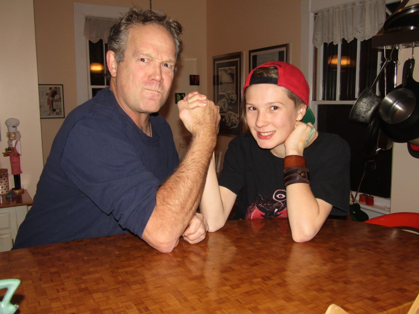 Rand Richards Cooper and his daughter Larkin