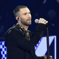 Singer Adam Levine performs with Maroon 5 during the 2018 iHeartRadio Music Awards. (Chris Pizzello/Invision/AP)