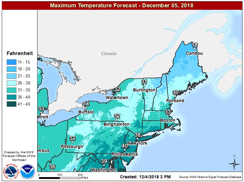 Below-average temperature readings continue today. (Courtesy NOAA)