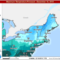 Temperatures Tuesday will be in the 20s to near 30. (Courtesy NOAA)
