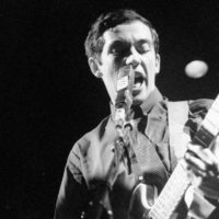 Buzzcocks' Pete Shelley on stage in 1979 (Courtesy)