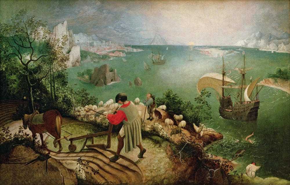 Fall of icarus bruegel