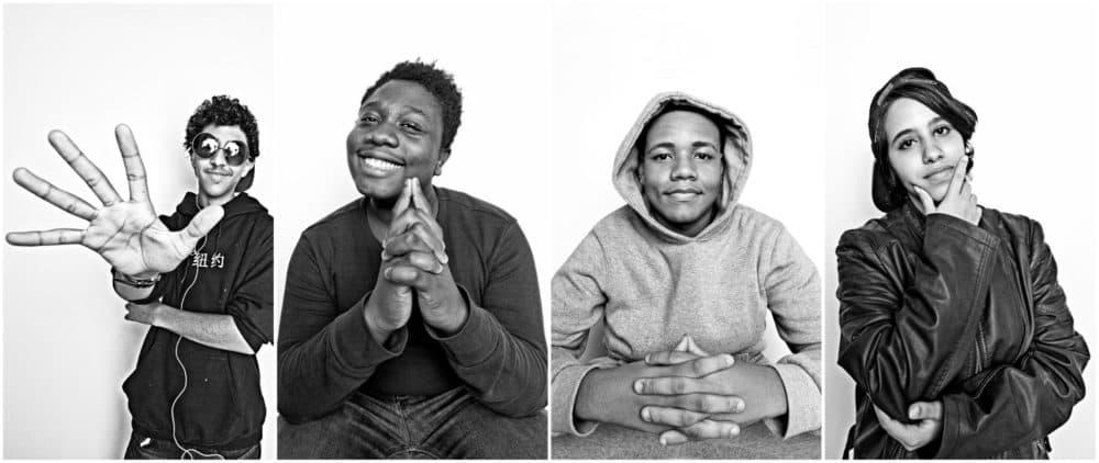 Portraits of students at Villa Victoria: William Lopez, Jarell Knox, Sebastian Canales and Ciel Vazquez. (Courtesy Robert Torres)