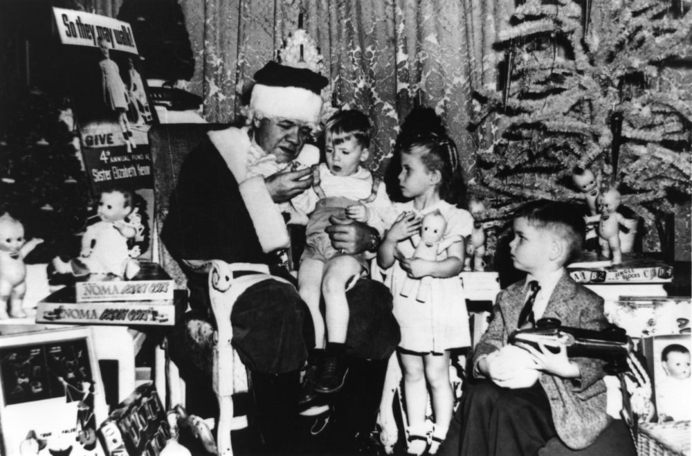 Babe Ruth was sick with cancer when he showed up at a Christmas party for children with polio in 1947. (Allsport/Getty Images)