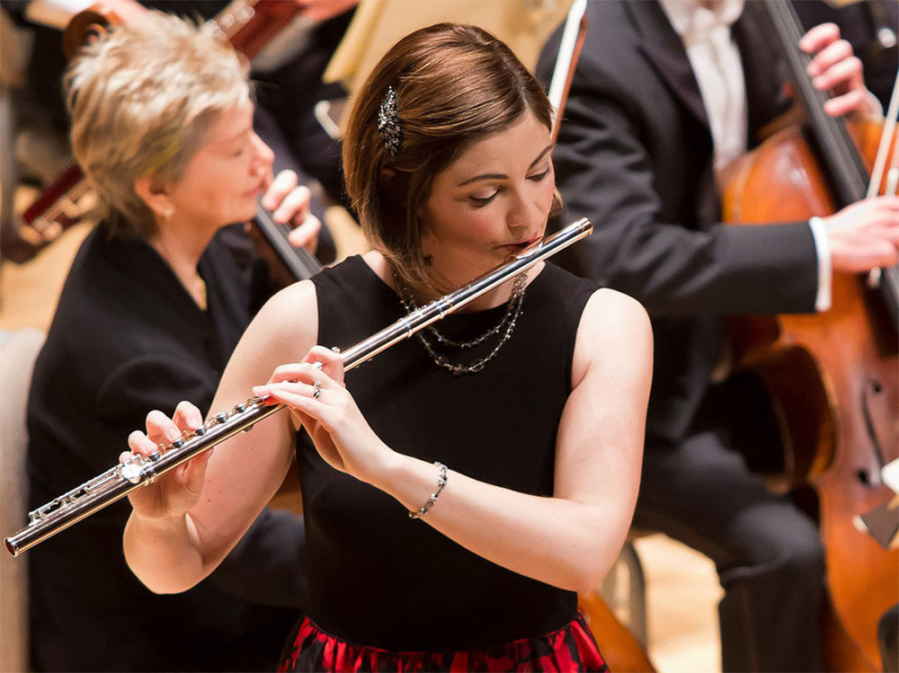 Elizabeth Rowe performs with the Boston Symphony Orchestra in 2016. (Courtesy Winslow Townson/BSO)