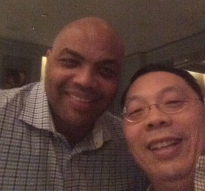 Charles Barkley and Lin Wang (Courtesy Shirley Wang)