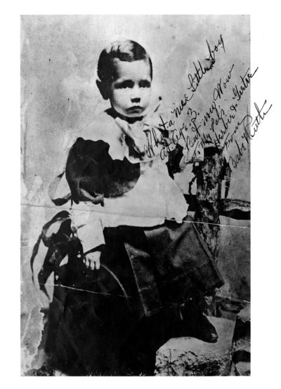 """Babe Ruth at age 3. Ruth inscribed this photo for friends, saying """"What a nice Little Boy. at Age. 3. But now Wow"""". (Courtesy Harper Collins)"""