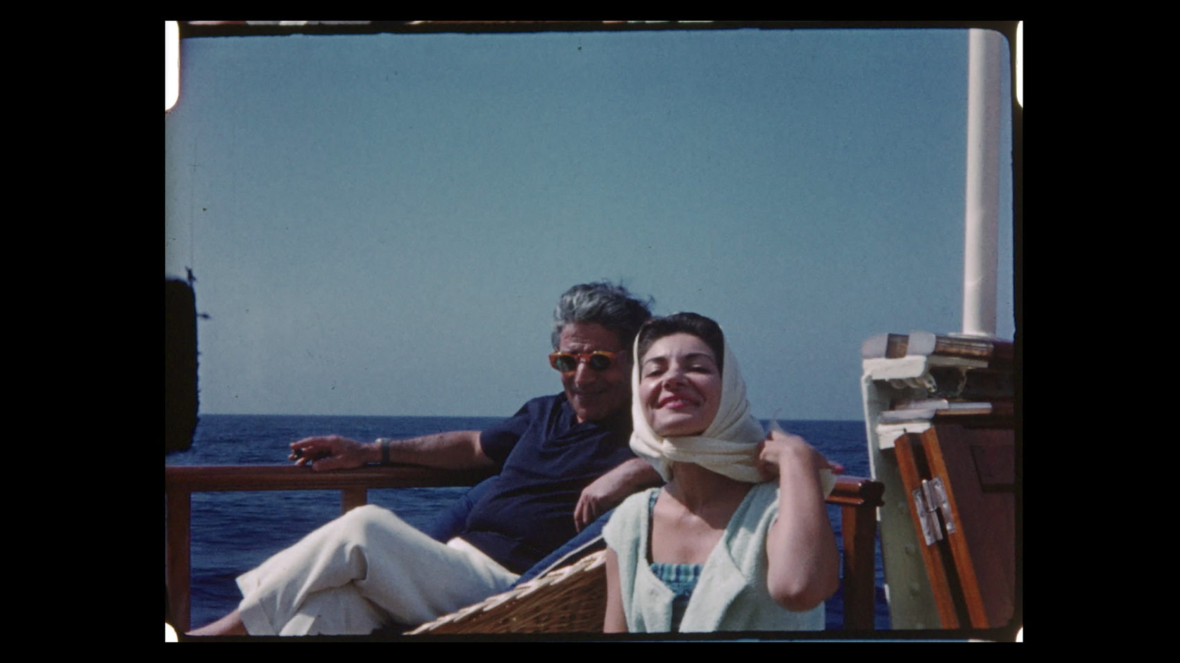 Aristotle Onassis, left, with Maria Callas. The two carried on a love affair that received much publicity. (Sony Pictures Classics/Sony Pictures)