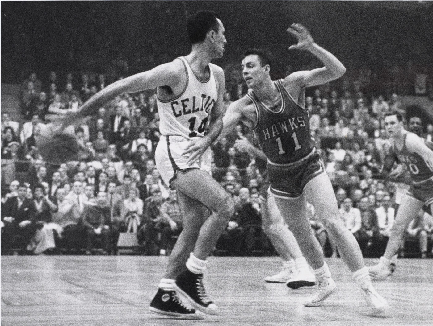 Bob Cousy was named to the All-Star team in each of his 13 full NBA seasons. (Courtesy Fortier Public Relations)
