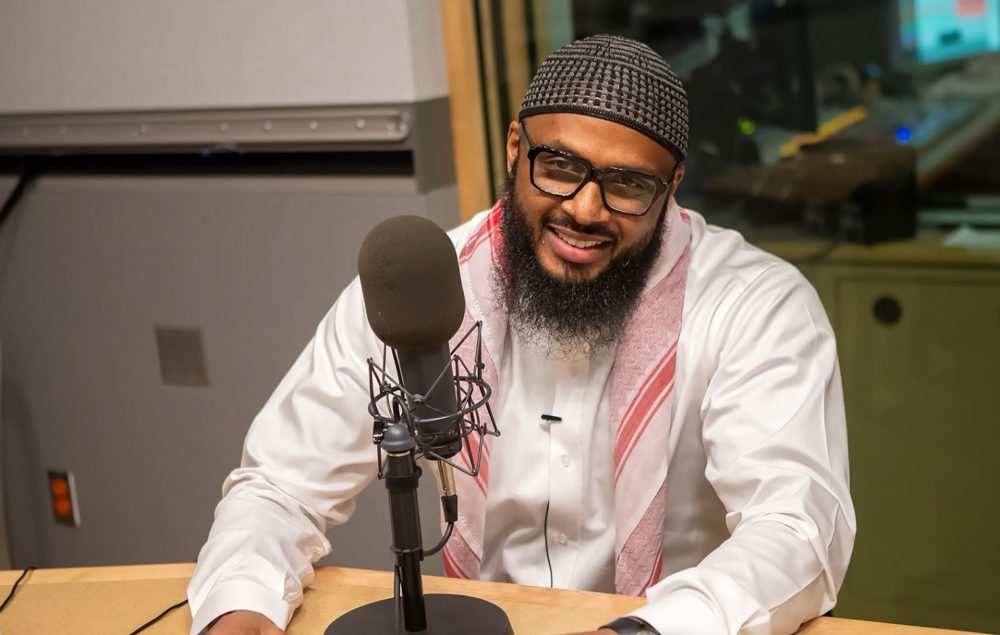 Taymullah Abdur-Rahman, host and executive producer of Exconversations and Muslim Chaplain for the Massachusetts Department of Corrections. (Jesse Costa/WBUR)