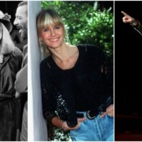 Joni Mitchell on stage in December 1975, Olivia Newton-John in December 1990 and Carly Rae Jepsen in 2012. (Julie Parkes and Arthur Mola/AP)