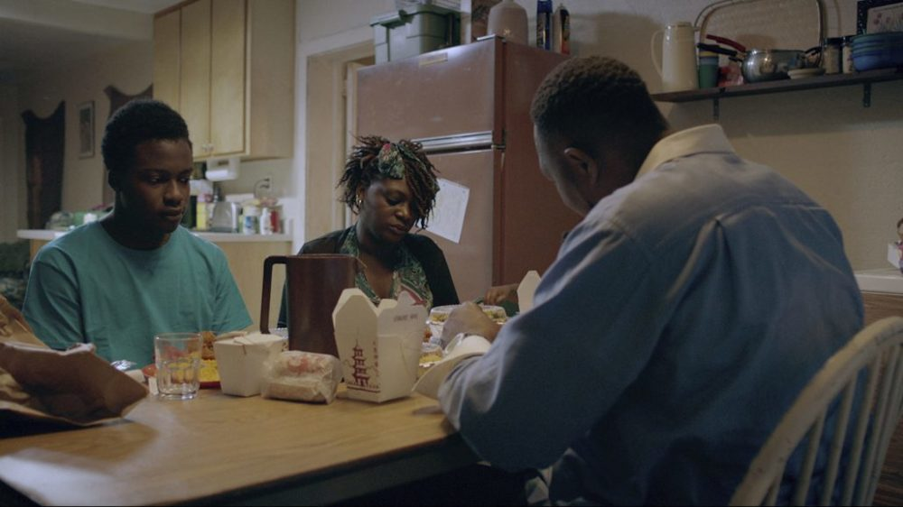 """Andrew Bleechington, Regina Williams and Robert Williams in a scene from """"Life and Nothing More."""" (Courtesy CFI Releasing)"""