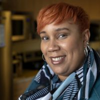 Chef Elle Simone at WBUR. (Robin Lubbock/WBUR)