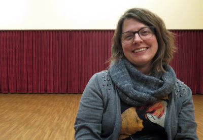 Lighting designer Annie Wiegand. (Andrea Shea/WBUR)