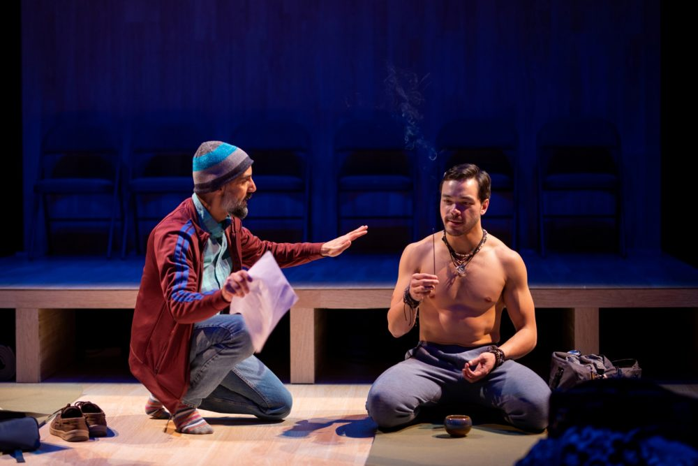 "Nael Nacer as Ned and Sam Simahk as Rodney in ""Small Mouth Sounds."" (Courtesy Nile Scott Studios)"