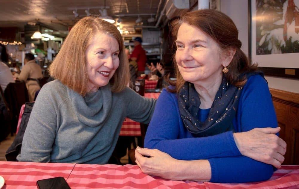 Joyce Monac, left, and her sister Ellen Cosgrove worked at Durgin-Park in the '70s. (Robin Lubbock/WBUR)