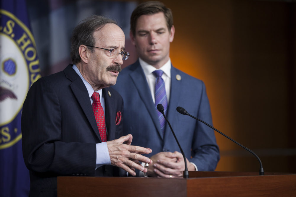 Rep. Elliot Engel (D-N.Y.) speaks during a news conference on April 5, 2017 on Capitol Hill in Washington, D.C. (Zach Gibson/Getty Images)