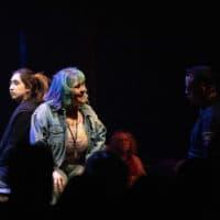 "Krystal Hernandez, Johanna Carlisle-Zepeda and Cristhian Mancinas-Garcia in ""Miss You Like Hell."" (Courtesy Evgenia Eliseeva/A.R.T.)"
