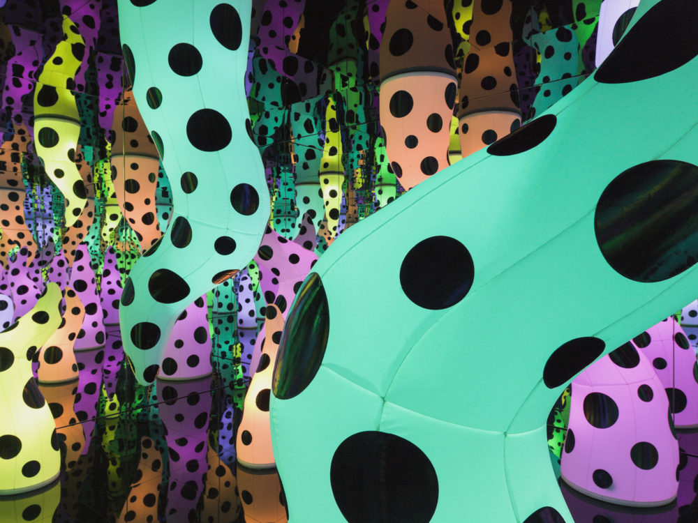 "Yayoi Kusama's infinity room titled ""Love is Calling."" (Courtesy ICA)"