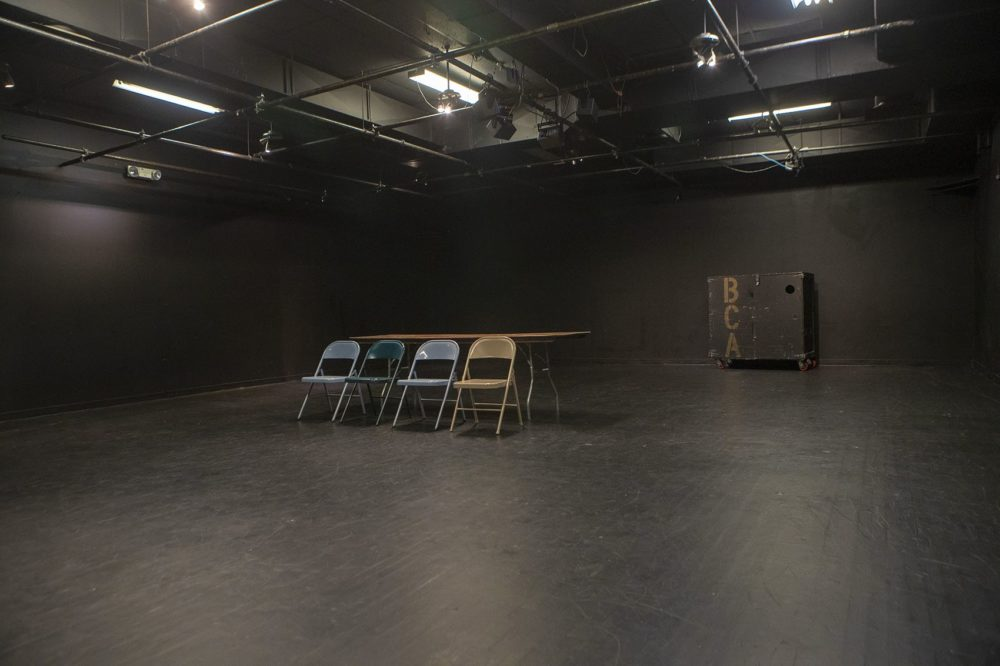 The Plaza Black Box Theatre (along with the Plaza Theatre) at the Boston Center for the Arts has started a tiered-pricing model to be more accessible to local performing arts groups. (Jesse Costa/WBUR)