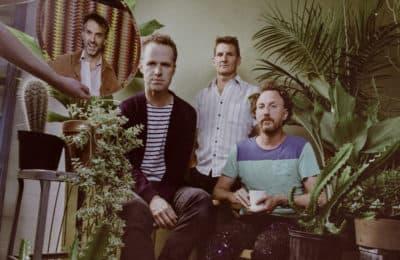The members of alt-rock band Guster. (Courtesy Alysse Gafkjen)