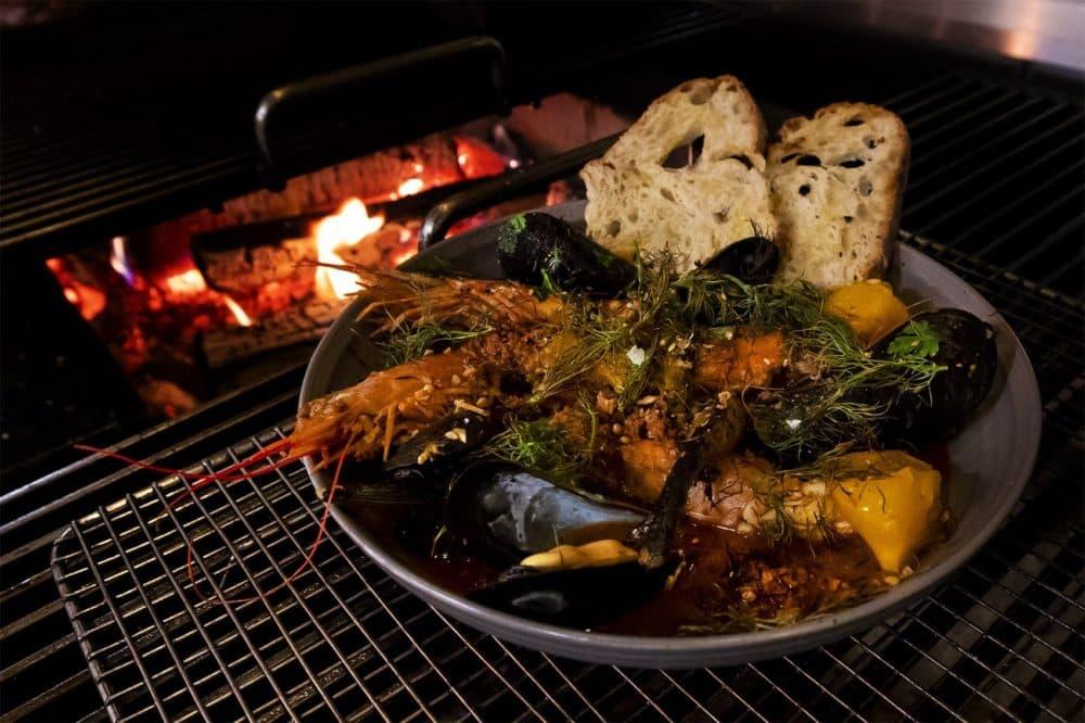 """Trillium's """"Grilled Fish."""" (Jesse Costa/WBUR)"""