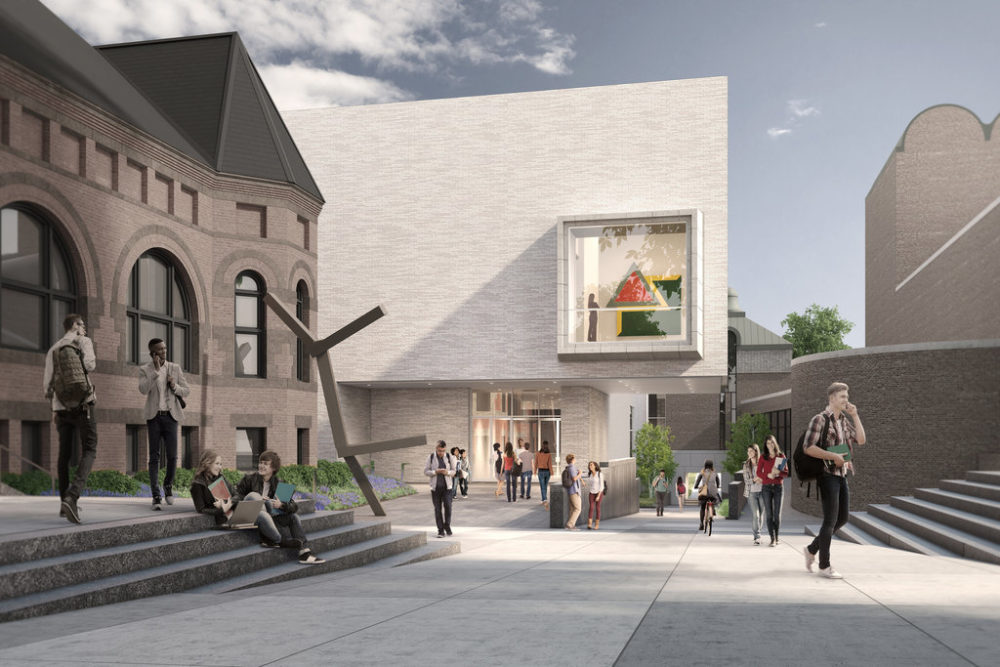 A rendering of the renovated Hood Museum of Art. (Courtesy MARCH)