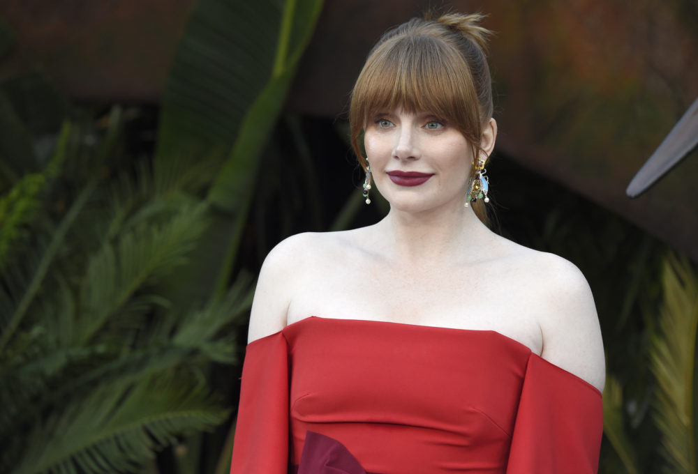 "Bryce Dallas Howard arrives at the Los Angeles premiere of ""Jurassic World: Fallen Kingdom"" on  June 12, 2018. (Chris Pizzello/Invision/AP)"