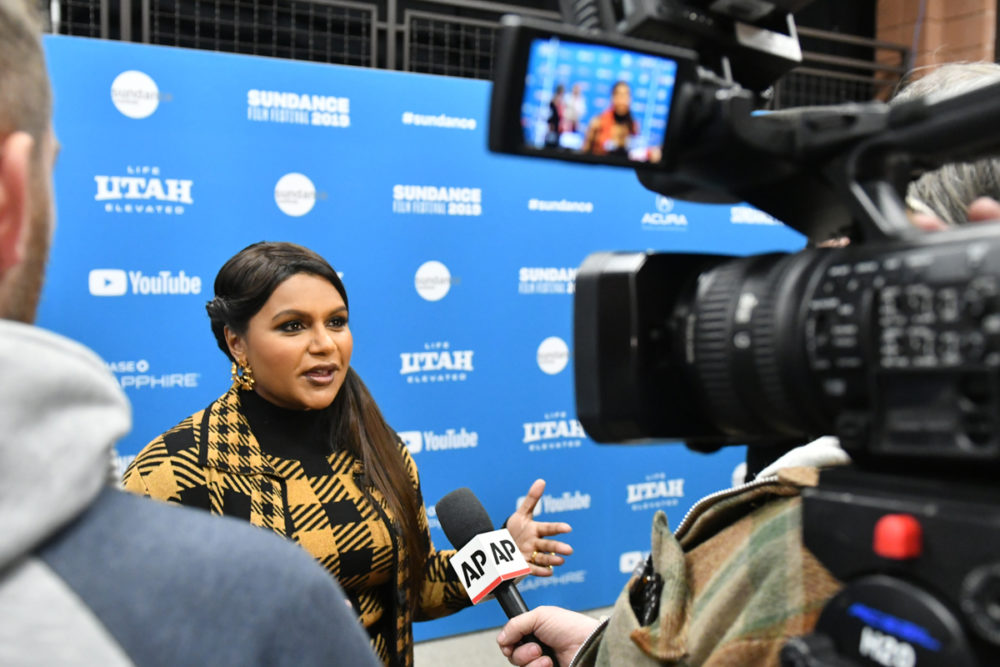 "Actor Mindy Kaling attends the world premiere of ""Late Night"" at Sundance Film Festival. (Courtesy Stephen Speckman/Sundance Institute)"