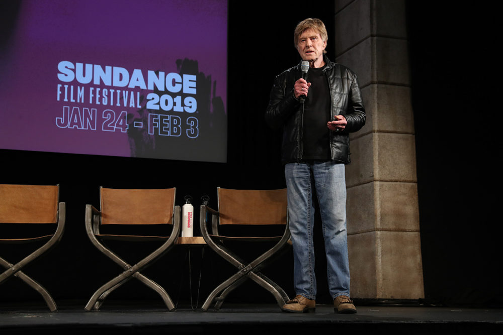 Sundance Institute President and Founder Robert Redford at the kick-off for this year's Sundance Film Festival. (Courtesy Jemal Countess/Sundance Institute)