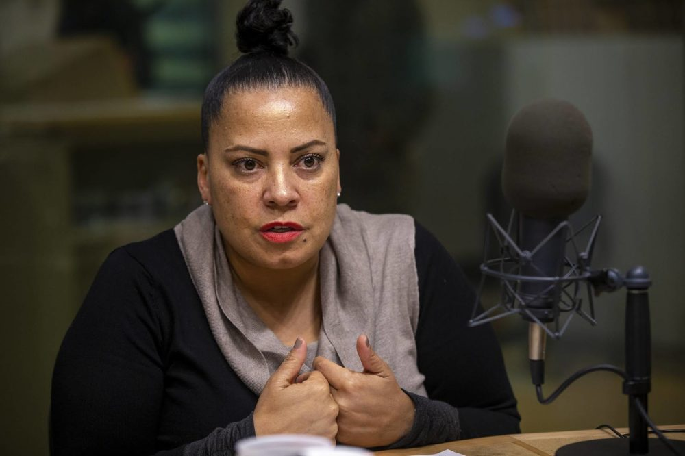 Suffolk County District Attorney Rachael Rollins at WBUR. (Jesse Costa/WBUR)