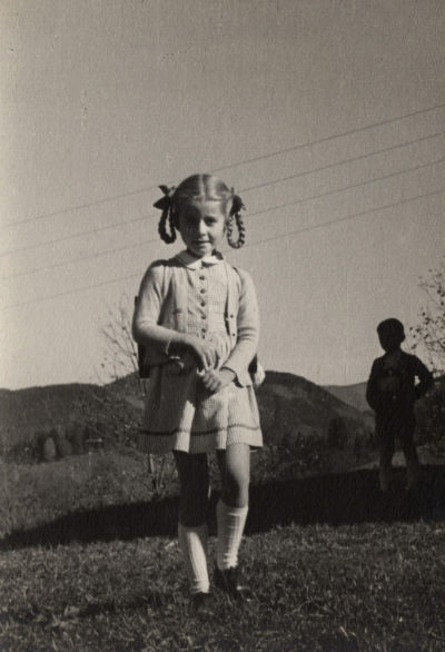 Hilde Schramm, pictured in Obersalzberg in Germany in 1942. (Courtesy of Hilde Schramm)