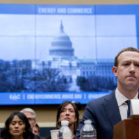 Facebook CEO Mark Zuckerberg pauses while testifying before a House Energy and Commerce hearing on Capitol Hill in Washington, Wednesday, April 11, 2018, about the use of Facebook data to target American voters in the 2016 election and data privacy. (Andrew Harnik/AP)