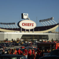 Arrowhead Stadium, home of the Kansas City Chiefs, before their game against the Denver Broncos on Sunday Oct. 28, 2018 in Kansas City, Mo. (Reed Hoffmann/AP)