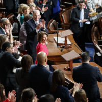 House Democratic Leader Nancy Pelosi of California, who will lead the 116th Congress as speaker of the House, is applauded at the Capitol in Washington, Thursday, Jan. 3, 2019. (Carolyn Kaster/AP)