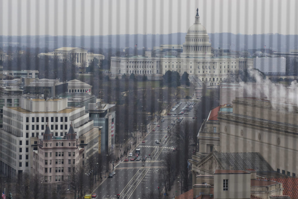 Pennsylvania Avenue leads to the U.S. Capitol seen from the Old Post Office Pavilion Clock Tower, which remains open during the partial government shutdown, Friday, Jan. 4, 2019, in Washington. (Alex Brandon/AP)