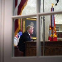 President Donald Trump addresses the nation from the Oval Office of the White House in Washington, Tuesday, Jan. 8, 2019. (Carolyn Kaster/AP)