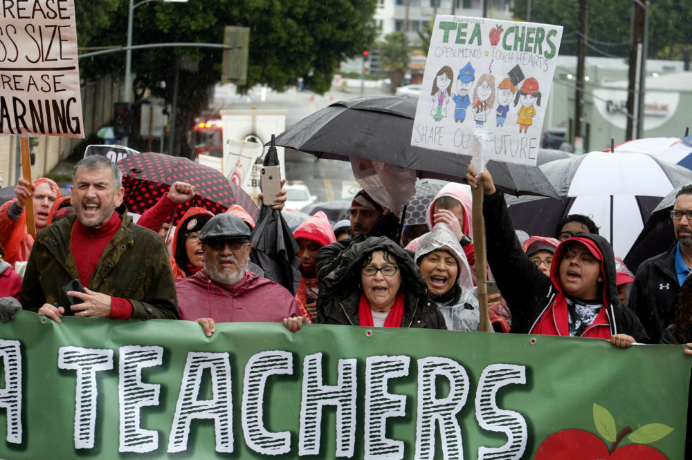Los Angeles teachers strike enters fourth day with talks set to resume