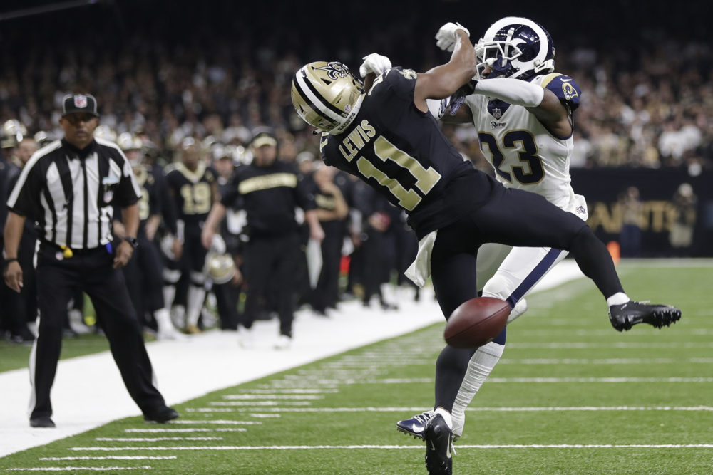 New Orleans Saints wide receiver Tommylee Lewis (11) works for a catch  against Los cf77e70eec5