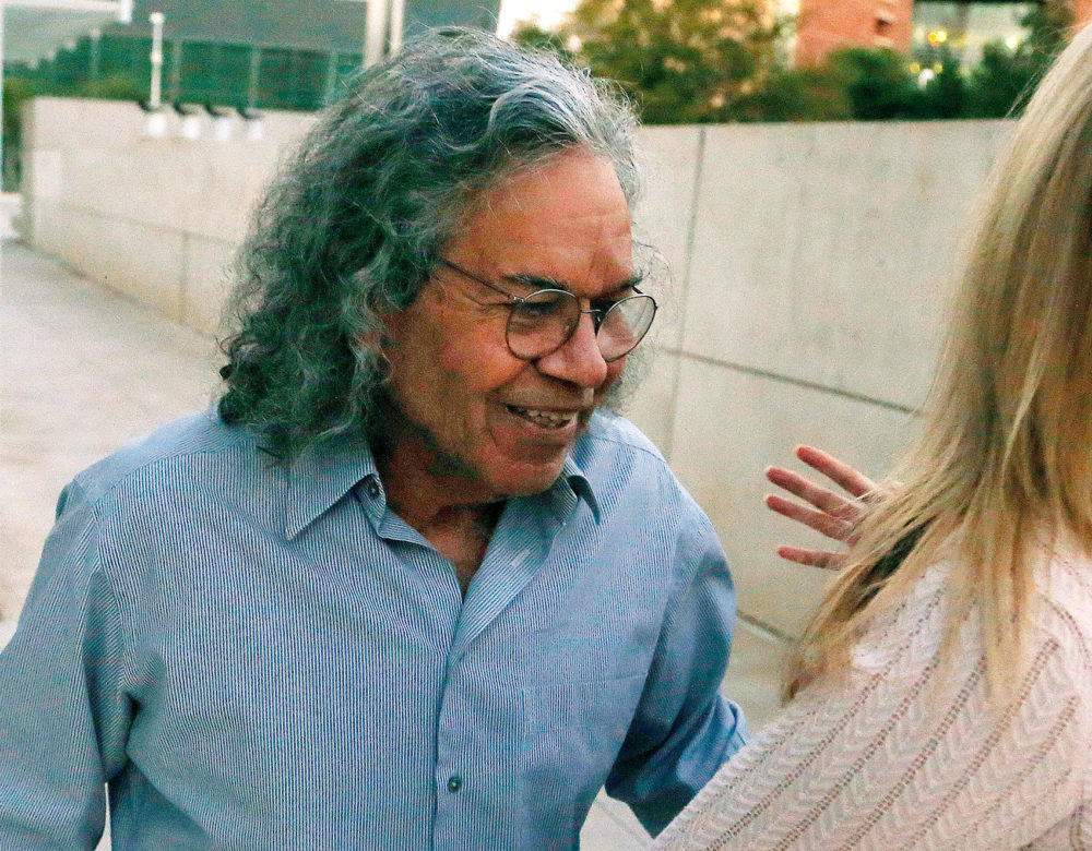 Insys Therapeutics founder John Kapoor leaves U.S. District Court in Phoenix in this 2017 file photo. (Ross D. Franklin/AP)